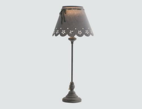 Lampe à poser – pied métal gris
