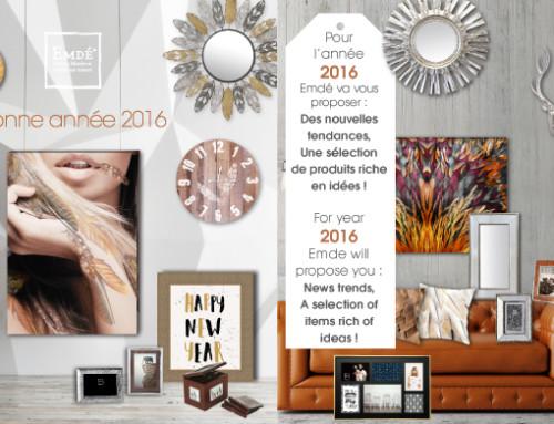Emdé vous souhaite une bonne année 2016 !