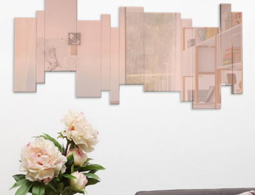 Grand Miroir rose 70×140