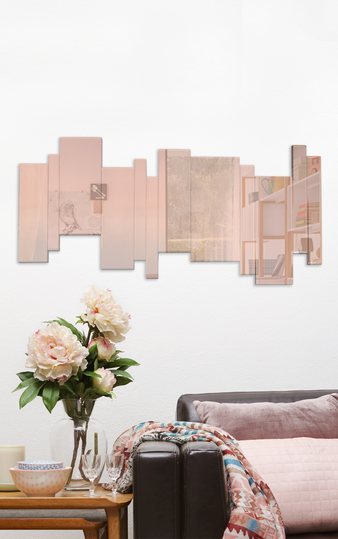 Grand miroir rose design et original