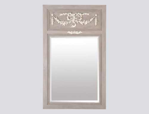 Miroir trumeau beige