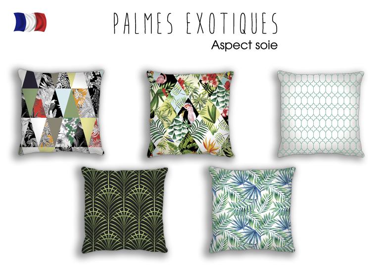 Coussins tendances - Collection Palmes Exotique