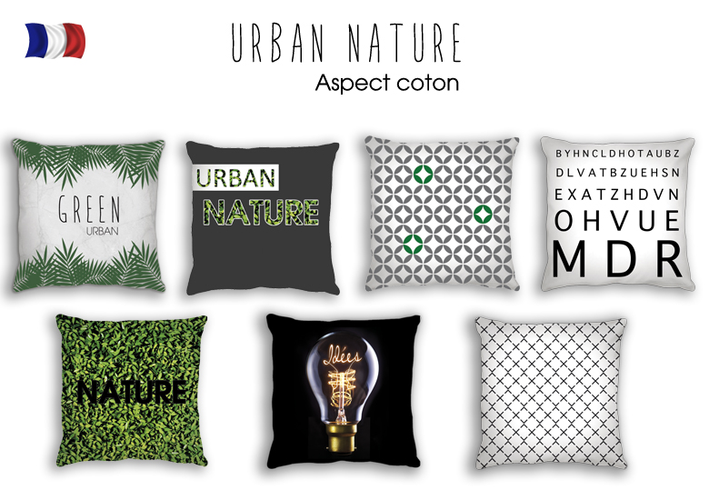 Coussins tendances - Collection Urban Nature