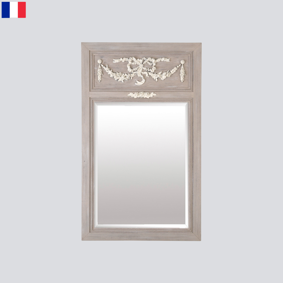 Grand miroir rose design miroirs emde for Architecture miroir